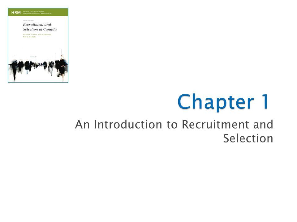 An Introduction to Recruitment and Selection