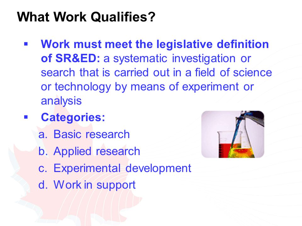 What Work Qualifies.