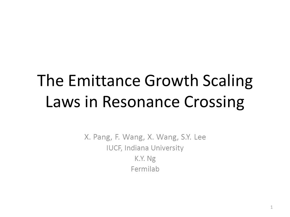 The Emittance Growth Scaling Laws in Resonance Crossing X.