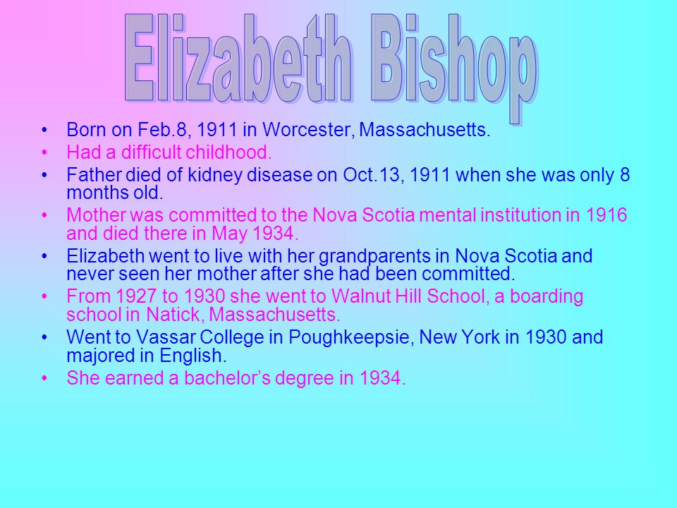 Born on Feb.8, 1911 in Worcester, Massachusetts. Had a difficult childhood.