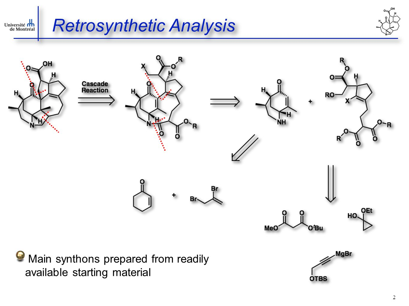 2 Retrosynthetic Analysis Main synthons prepared from readily available starting material