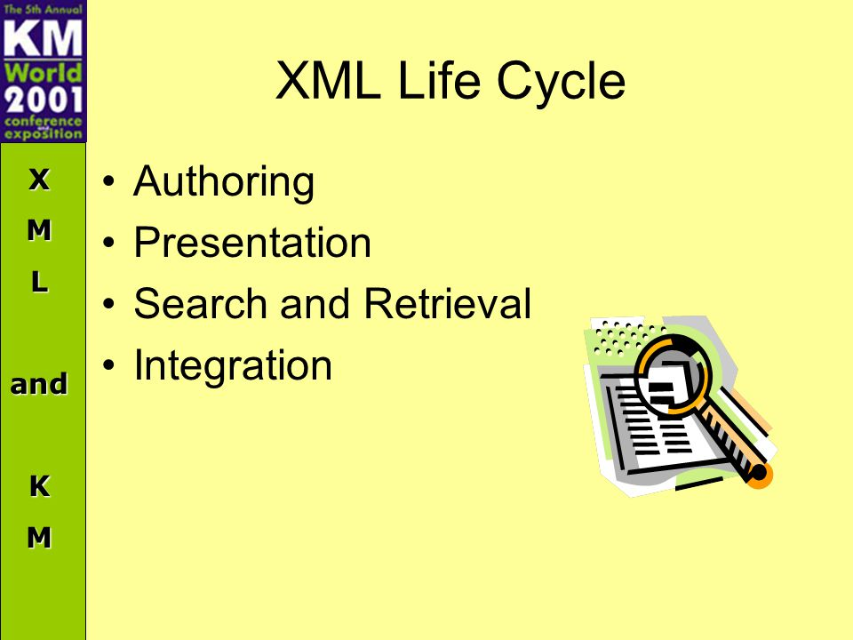 XMLandKM XML Life Cycle Authoring Presentation Search and Retrieval Integration
