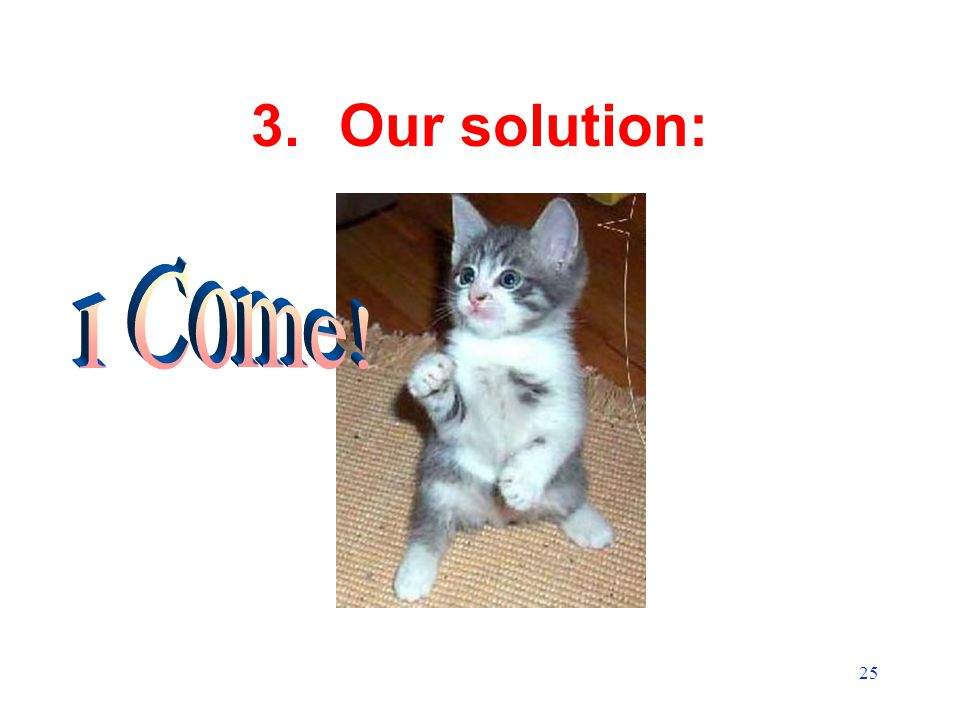 25 3.Our solution: