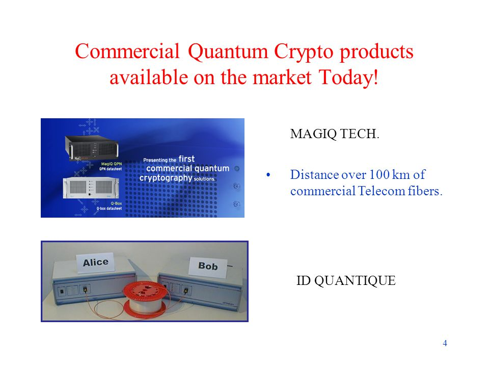 4 Commercial Quantum Crypto products available on the market Today.
