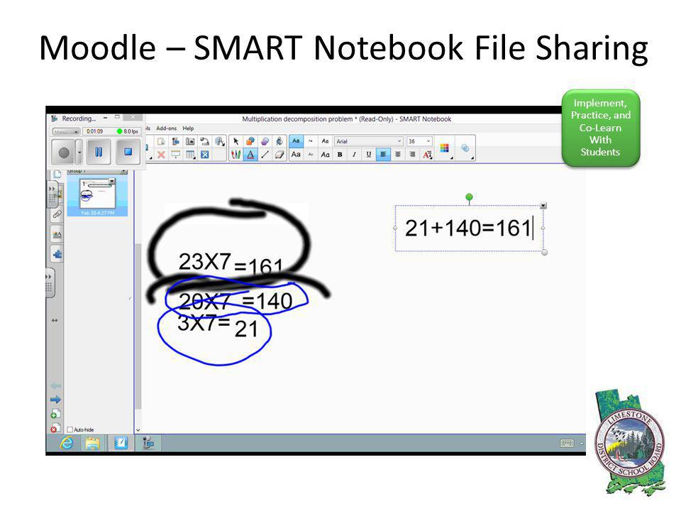 Moodle – SMART Notebook File Sharing Implement, Practice, and Co-Learn With Students