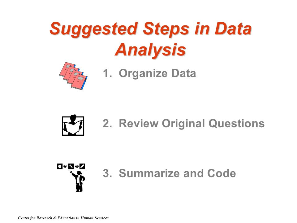 Suggested Steps in Data Analysis 1. Organize Data 2.