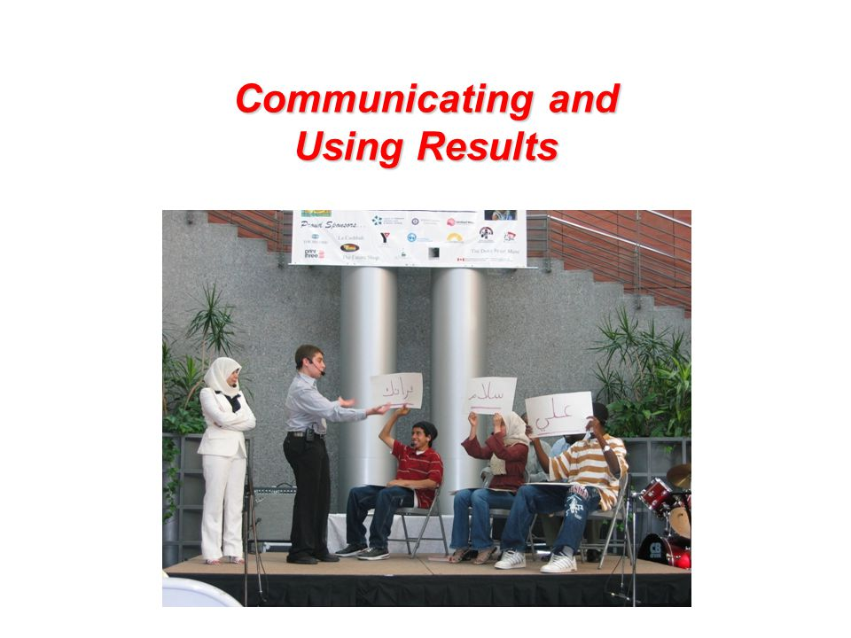 Communicating and Using Results