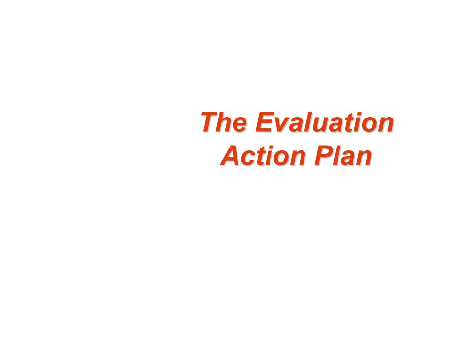 The Evaluation Action Plan