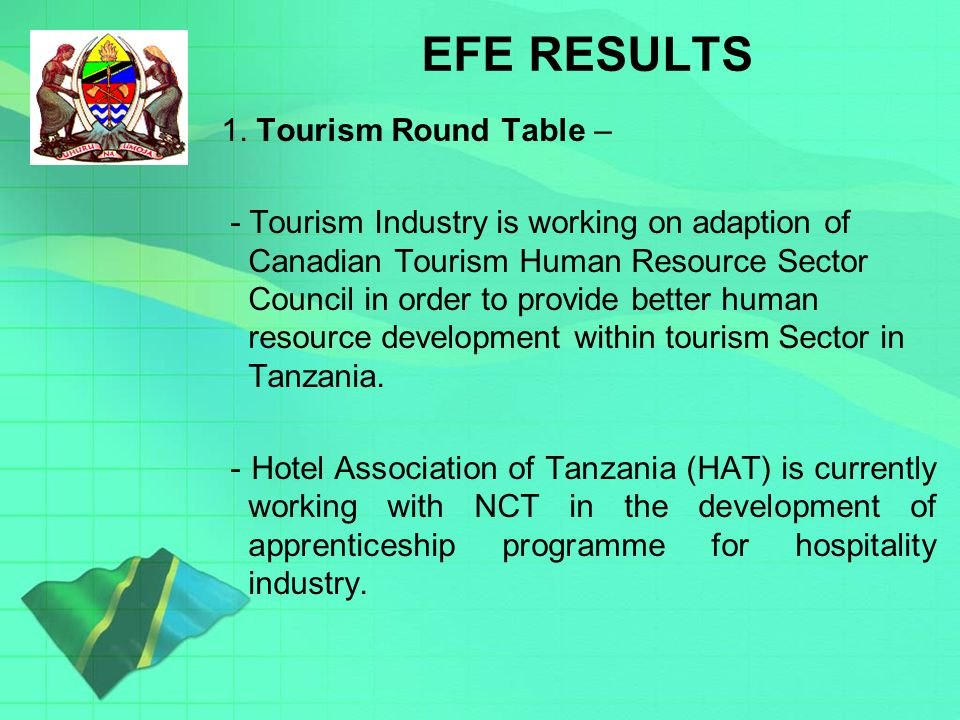 Key issues on EFE RESULTS 1.