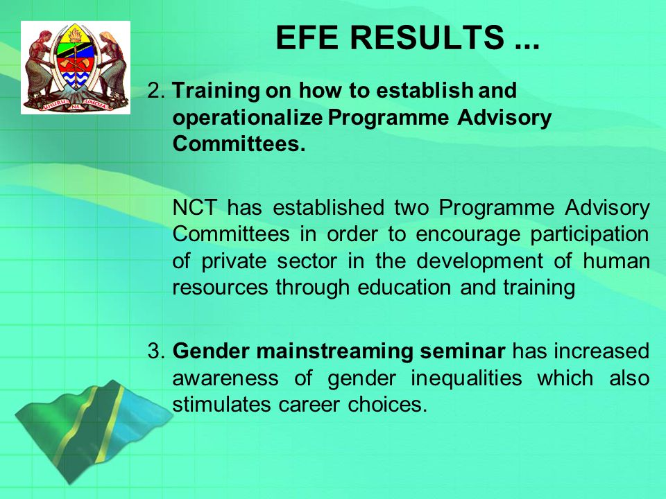 Key issues on EFE RESULTS... 2.