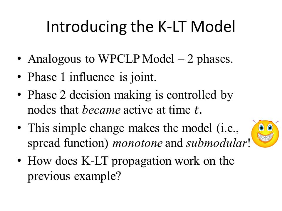Introducing the K-LT Model