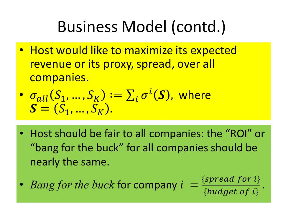 Business Model (contd.)