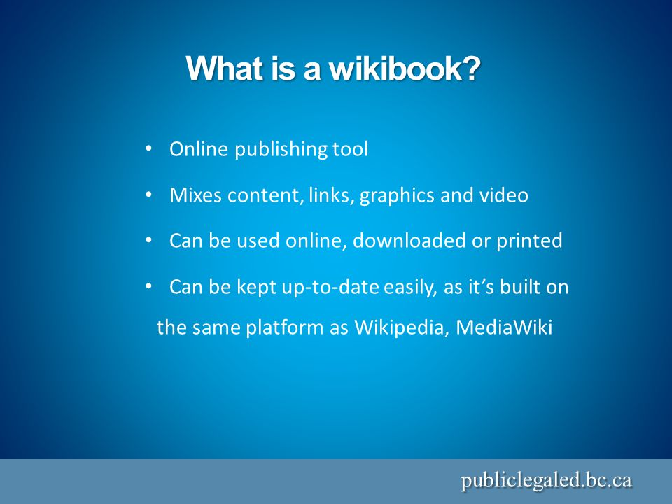 What is a wikibook.