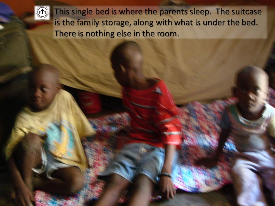 This single bed is where the parents sleep.