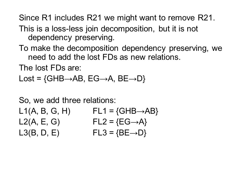 Since R1 includes R21 we might want to remove R21.