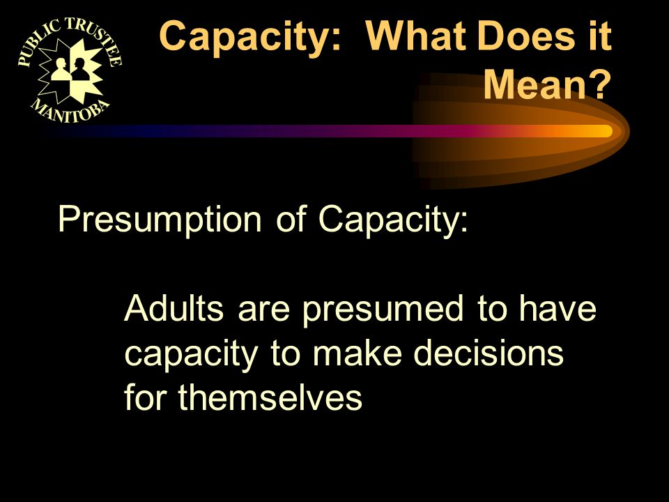 Capacity: What Does it Mean.
