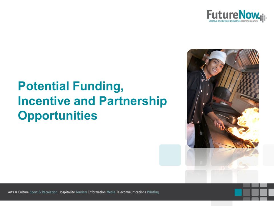 Potential Funding, Incentive and Partnership Opportunities