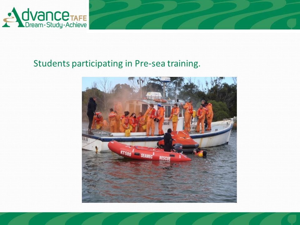Students participating in Pre-sea training.