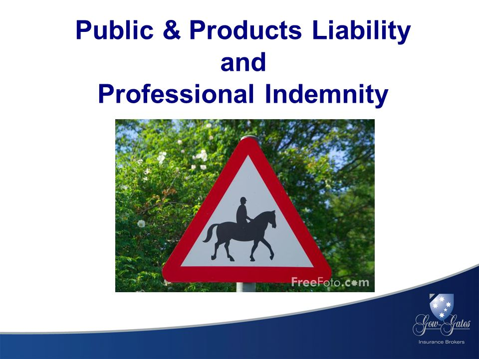 Public & Products Liability and Professional Indemnity