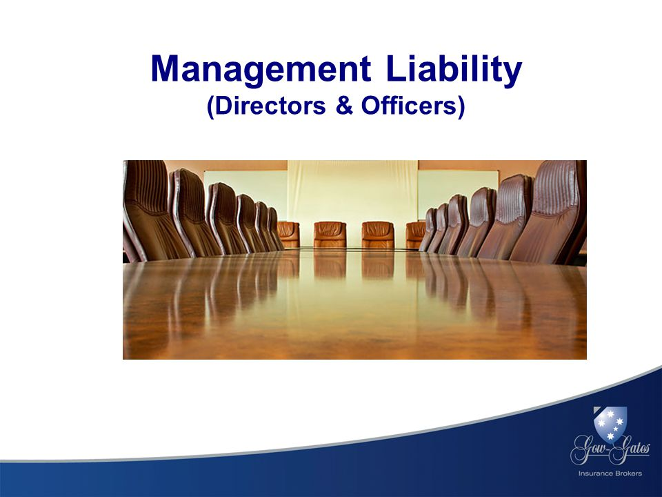 Management Liability (Directors & Officers)