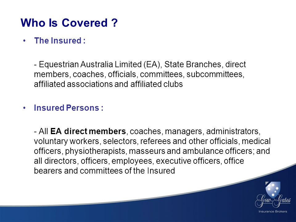 Who Is Covered .