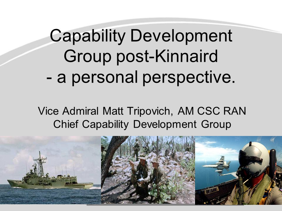 Capability Development Group post-Kinnaird - a personal perspective.