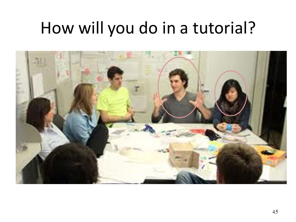 How will you do in a tutorial 45