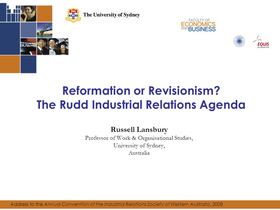 Reformation or Revisionism.