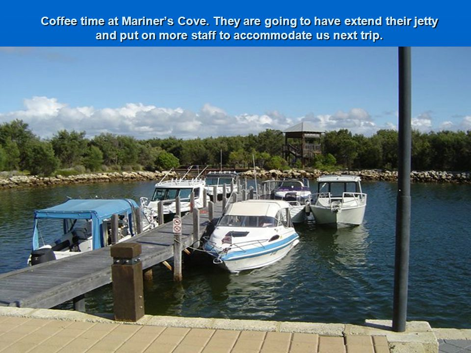 Coffee time at Mariner's Cove.