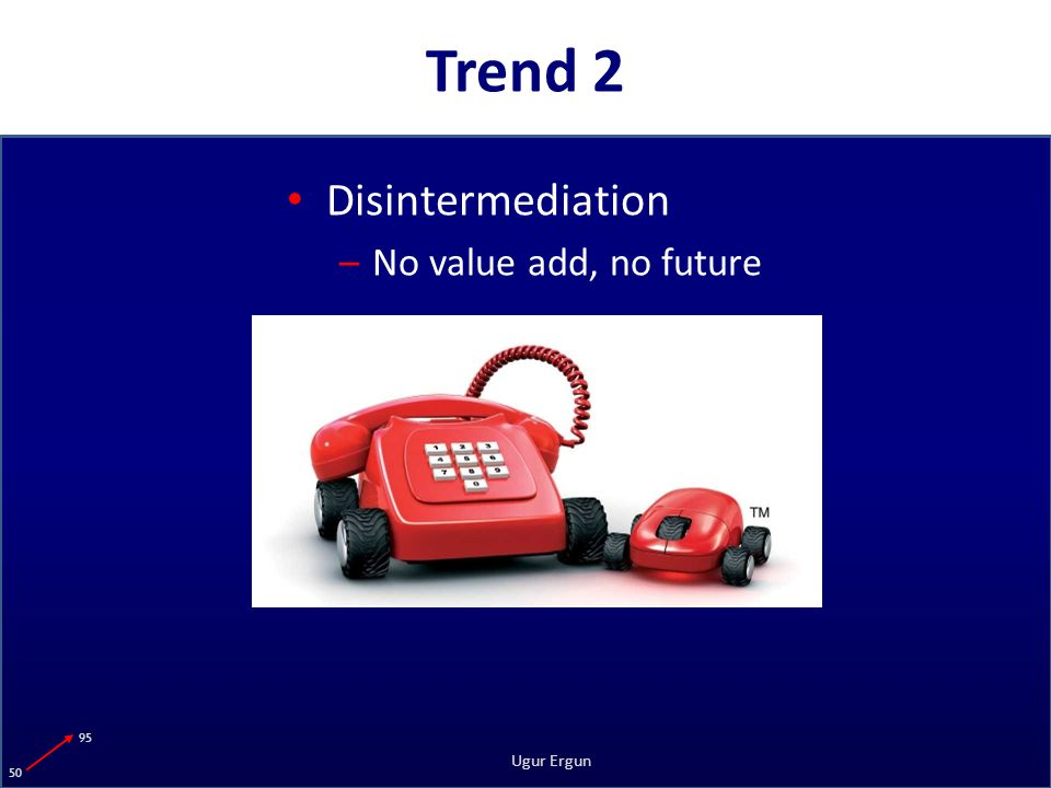 95 50 Ugur Ergun Trend 2 Disintermediation –No value add, no future