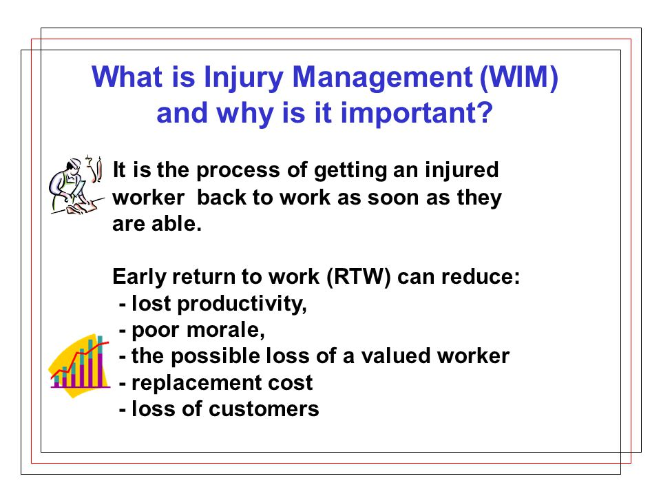 What is Injury Management (WIM) and why is it important.