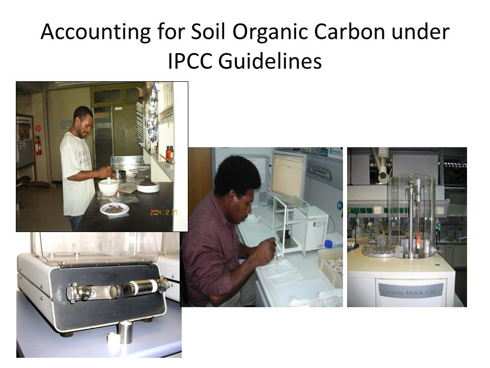 Accounting for Soil Organic Carbon under IPCC Guidelines