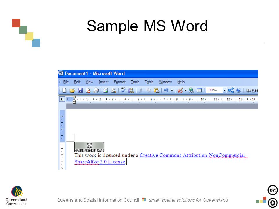 Queensland Spatial Information Council smart spatial solutions for Queensland Sample MS Word