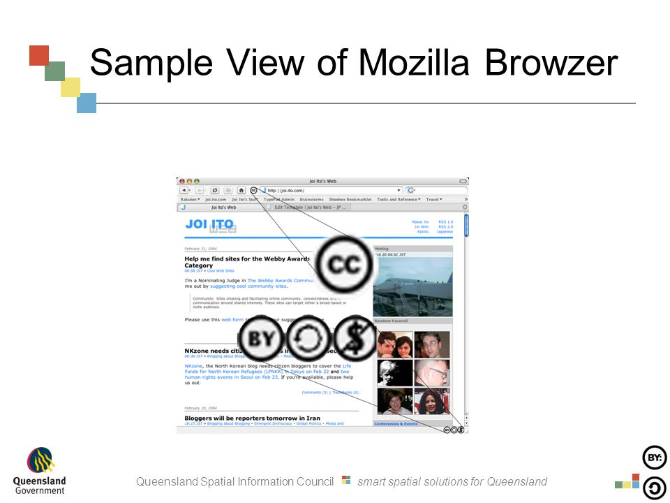 Queensland Spatial Information Council smart spatial solutions for Queensland Sample View of Mozilla Browzer