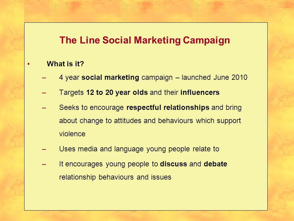 The Line Social Marketing Campaign What is it.