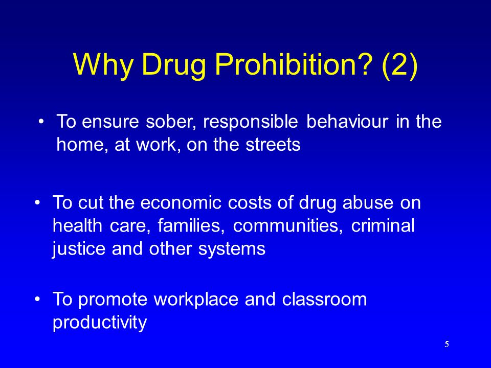 5 Why Drug Prohibition.