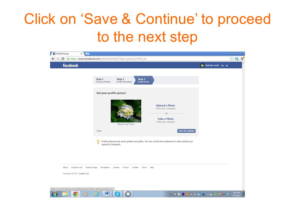 Click on 'Save & Continue' to proceed to the next step