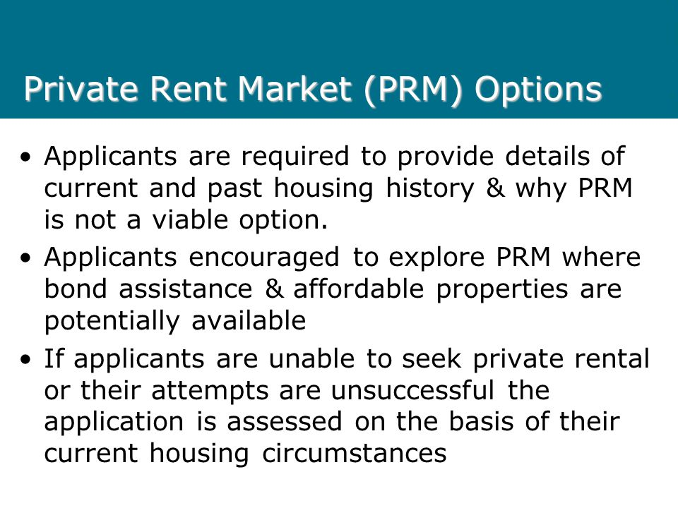 Wait Turn Housing Segment Applicant meets eligibility limits for public housing assistance, but does not have an urgent/special need for housing