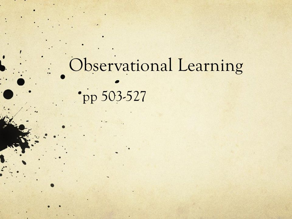 Observational Learning pp 503-527