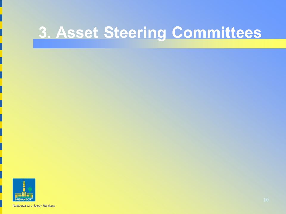 10 3. Asset Steering Committees