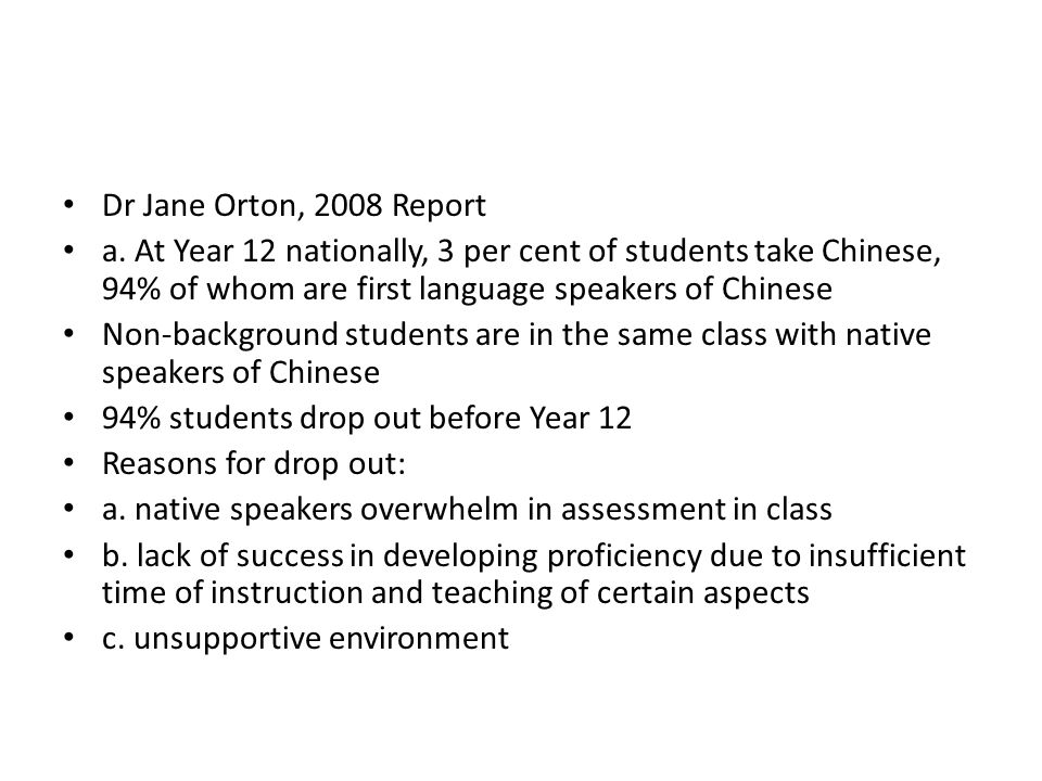 Dr Jane Orton, 2008 Report a.