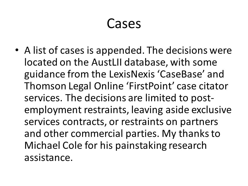 Cases A list of cases is appended.