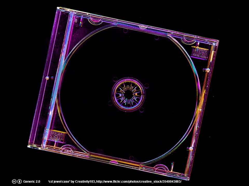 Generic 2.0'cd jewel case' by Creativity103, http://www.flickr.com/photos/creative_stock/3540043003/
