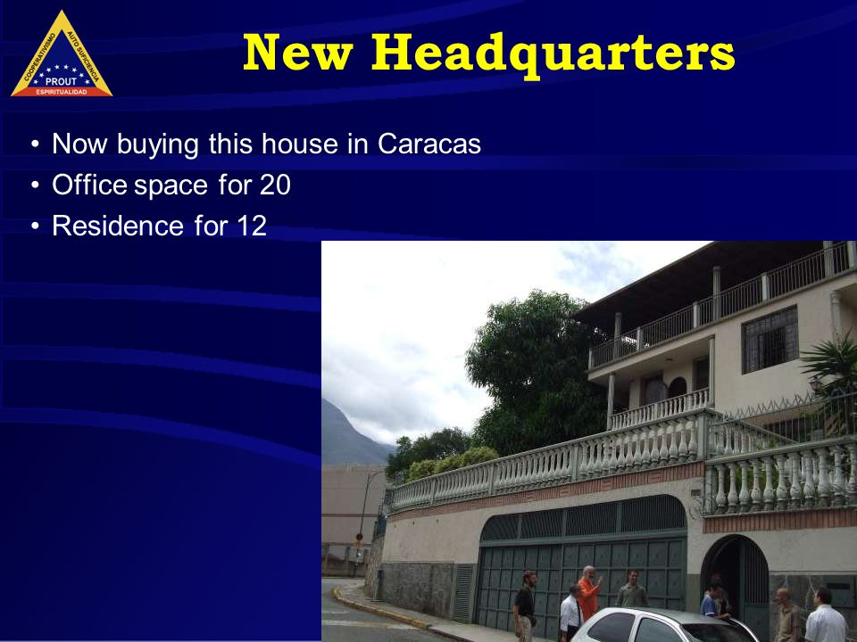 19 New Headquarters Now buying this house in Caracas Office space for 20 Residence for 12