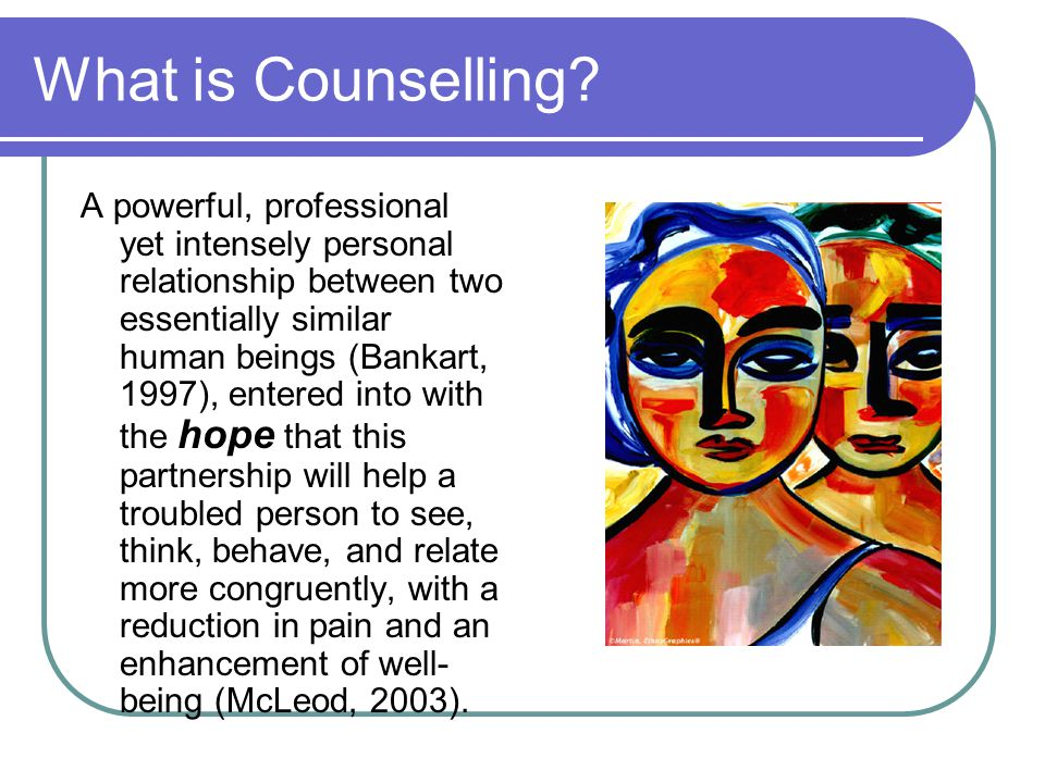 What is Counselling.
