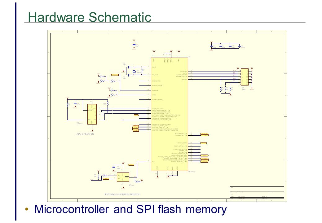 Hardware Schematic Microcontroller and SPI flash memory