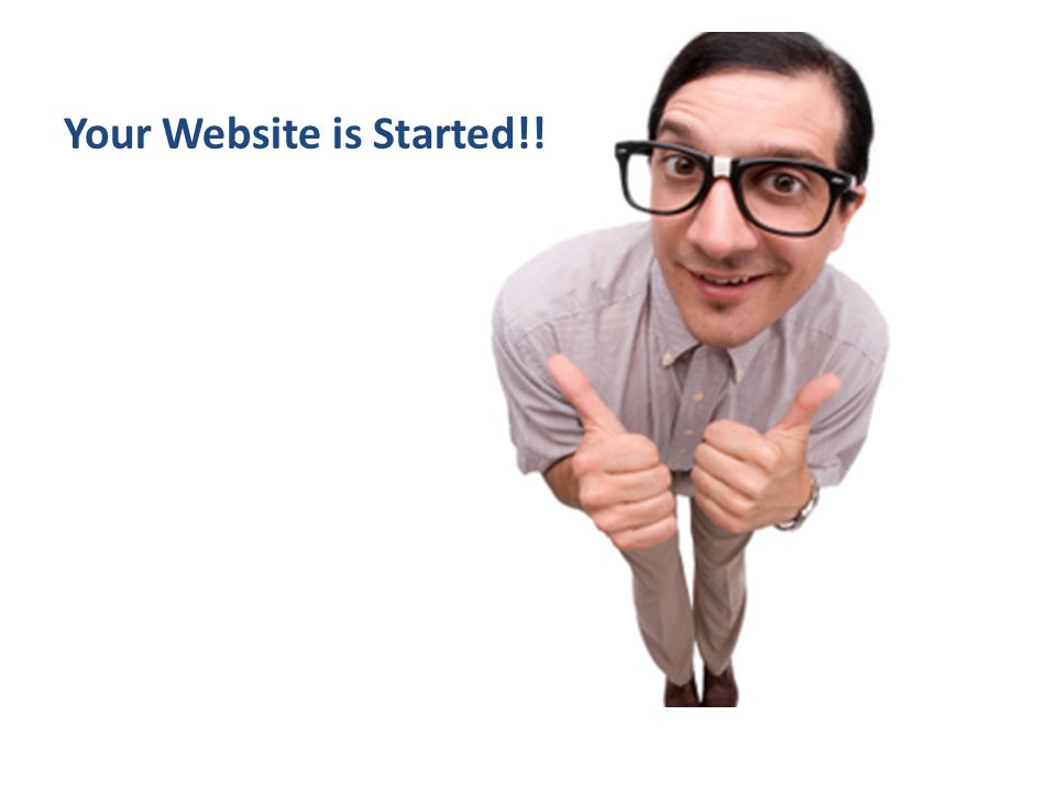 Your Website is Started!!