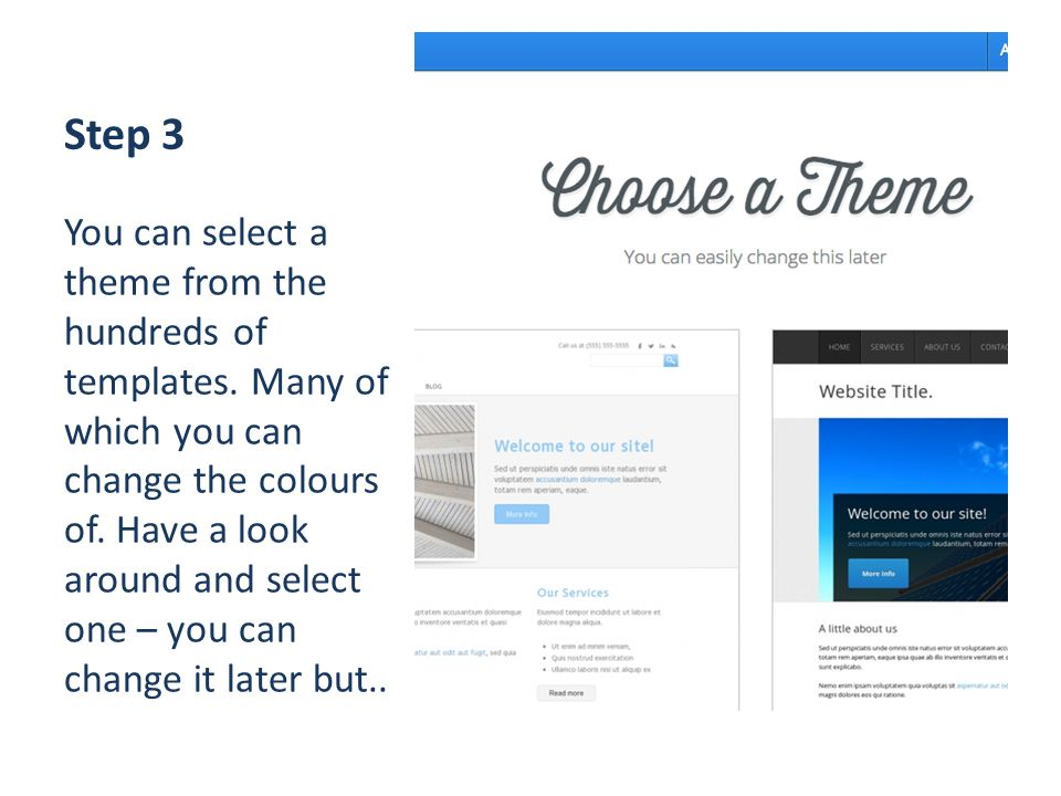 Step 3 You can select a theme from the hundreds of templates.