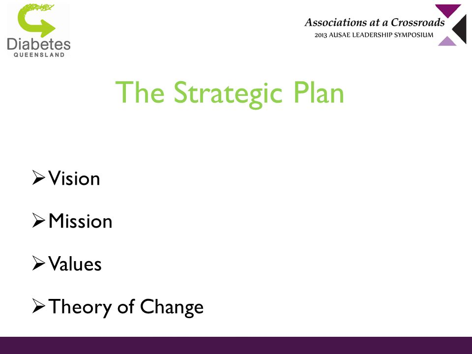 The Strategic Plan  Vision  Mission  Values  Theory of Change