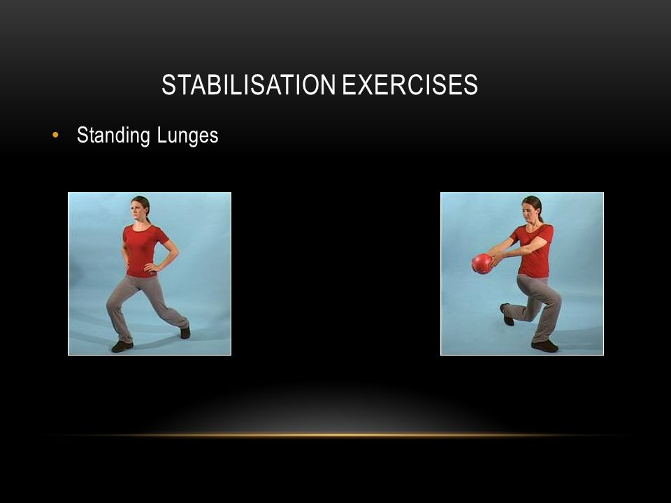 STABILISATION EXERCISES Standing Lunges